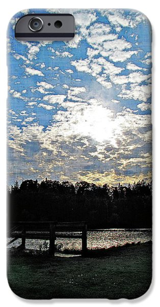 Silhoette iPhone Cases - Evening Shadows iPhone Case by Joan  Minchak