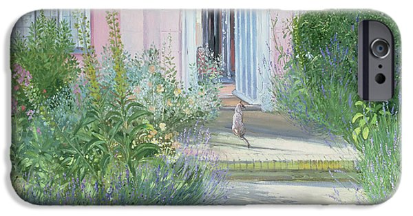 Garden iPhone Cases - Evening Shadows iPhone Case by Timothy Easton