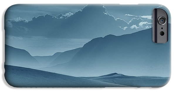 Nature Abstracts iPhone Cases - Evening Stillness - White Sands - Duvet in Blue iPhone Case by Nikolyn McDonald
