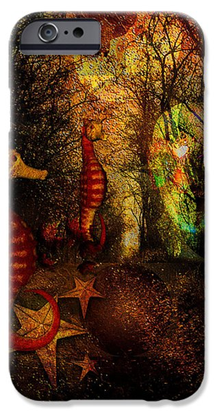 Dreamscape Digital Art iPhone Cases - Evening Stroll iPhone Case by Mimulux patricia no
