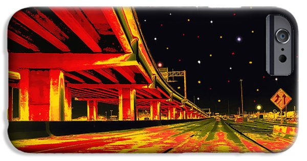 Traffic Sign iPhone Cases - Are We There Yet iPhone Case by Wendy J St Christopher