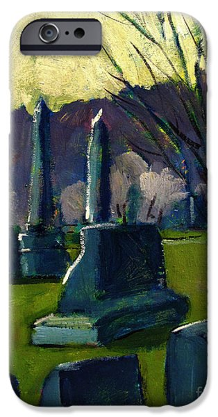Cemetery Paintings iPhone Cases - Everyday heroes No.2 John iPhone Case by Charlie Spear