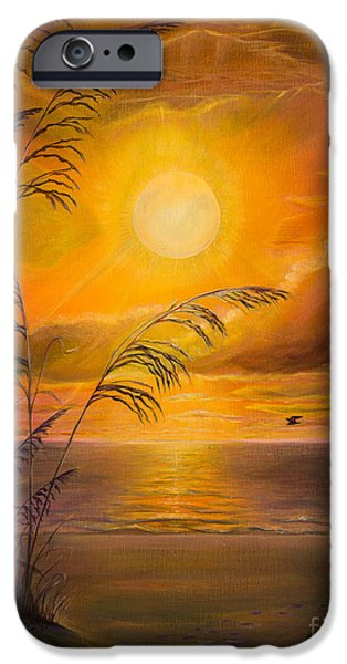 Tropical Paintings iPhone Cases - Everyday sunrise iPhone Case by Zina Stromberg