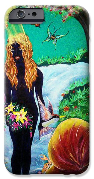 Religious Tapestries - Textiles iPhone Cases - Eves Garden iPhone Case by Raine Peeler-Trice-Maupins