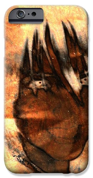 Gina Lee Manley iPhone Cases - Evil Grin iPhone Case by Gina Lee Manley