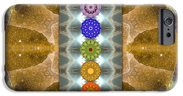 Cosmic Space iPhone Cases - Evolving Light iPhone Case by Bell And Todd