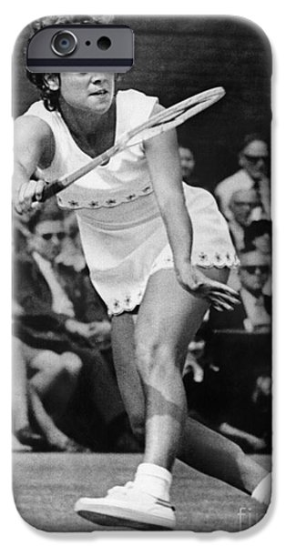 Fay iPhone Cases - Evonne Goolagong (1951- ) iPhone Case by Granger