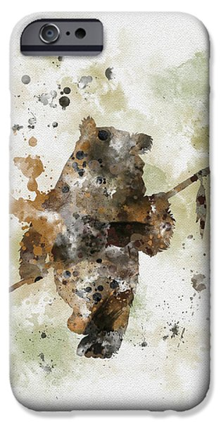 Science Mixed Media iPhone Cases - Ewok iPhone Case by Rebecca Jenkins