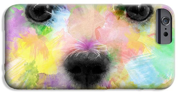 Puppies Digital Art iPhone Cases - Ex White iPhone Case by Carlos Vieira