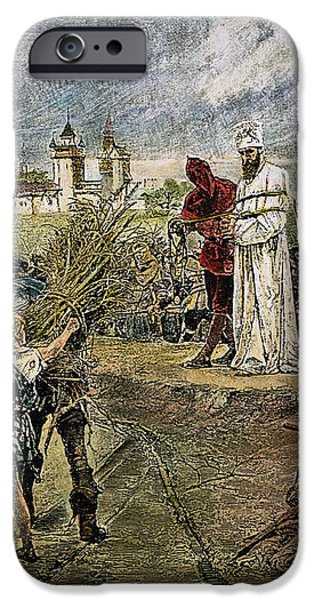 EXECUTION OF JAN HUS, 1415 iPhone Case by Granger
