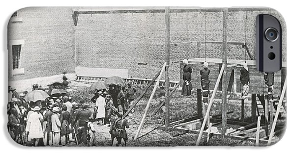 Secession iPhone Cases - Execution Of The Booth Conspirators iPhone Case by Photo Researchers