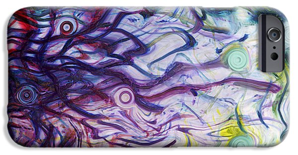 Energy Art Movement iPhone Cases - Exhalation iPhone Case by Linda Sannuti