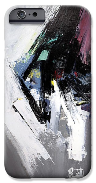 Abstract Expressionist iPhone Cases - Exit Strategy iPhone Case by James Hudek