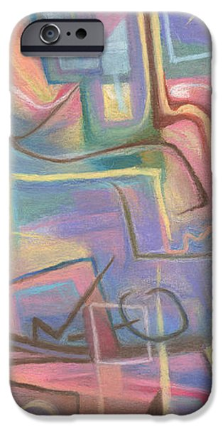 Abstract Expressionist iPhone Cases - Exotica 2 iPhone Case by Tom Kecskemeti