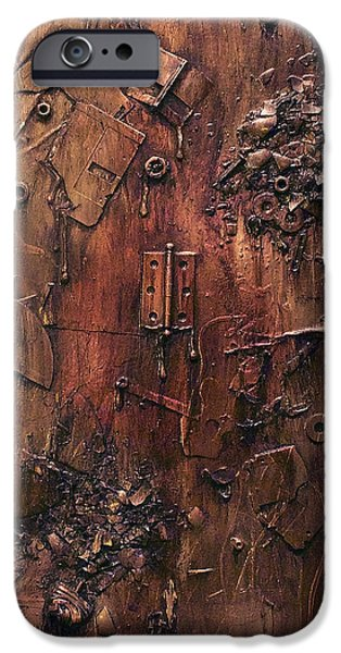 Must Art Paintings iPhone Cases - Exploded iPhone Case by Joshua Allegrucci