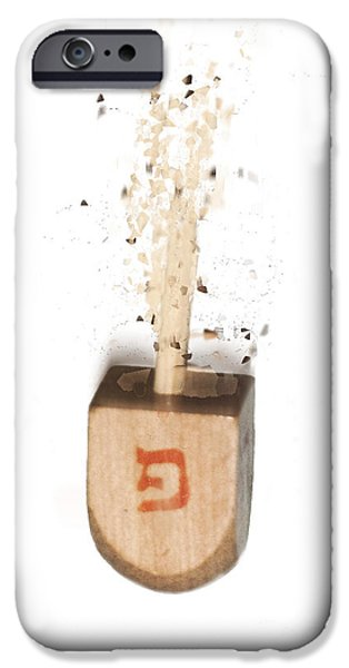 Chanukah iPhone Cases - exploding Dreidel iPhone Case by Humorous Quotes