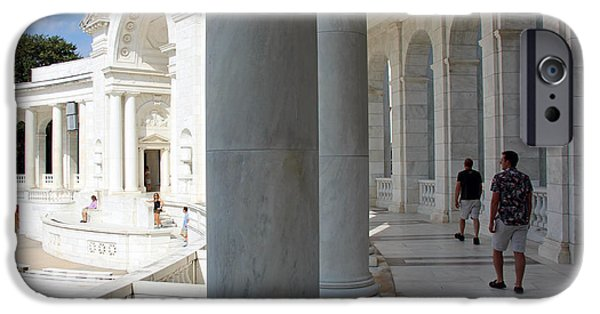 President iPhone Cases - Exploring Arlingtons Memorial Amphitheater iPhone Case by Cora Wandel
