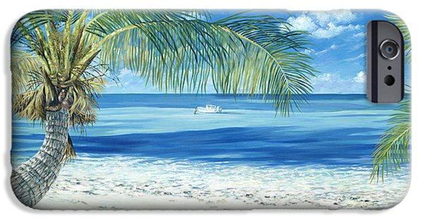 Exploring Paintings iPhone Cases - Exploring the Shallows iPhone Case by Danielle  Perry