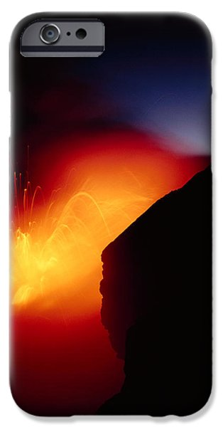 Combustion iPhone Cases - Explosion At Twilight iPhone Case by William Waterfall - Printscapes