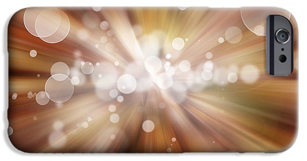 Blast iPhone Cases - Explosive background  iPhone Case by Les Cunliffe