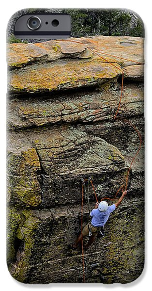 Ledge iPhone Cases - Extreme Climber No.1 iPhone Case by Mark Myhaver