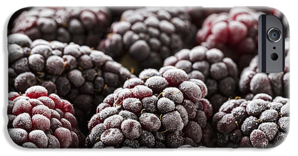 Berry iPhone Cases - Extreme Close Up Of Frosted iPhone Case by Michael Interisano