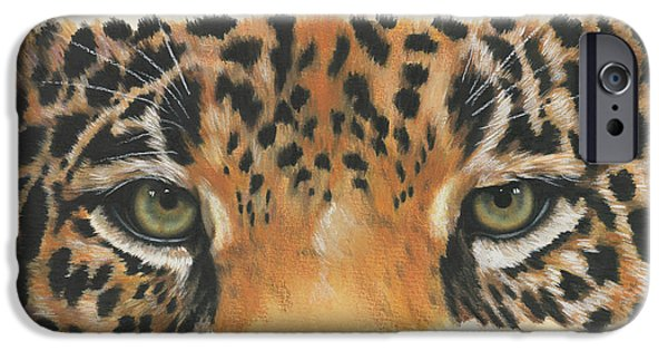 iPhone Cases - Eye-Catching Jaguar iPhone Case by Barbara Keith