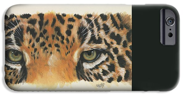Jaguars iPhone Cases - Eye-Catching Jaguar iPhone Case by Barbara Keith