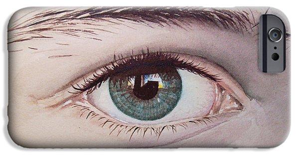 Eyes Paintings iPhone Cases - Eye iPhone Case by Irina Sztukowski