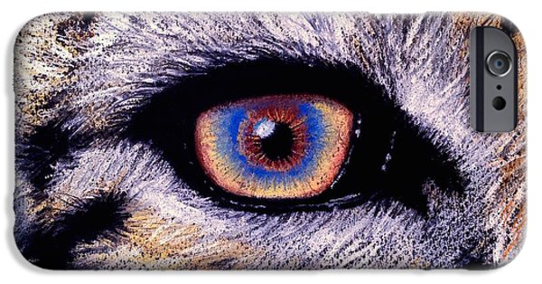 Wildfire iPhone Cases - Eye of a Tiger iPhone Case by Alban Dizdari