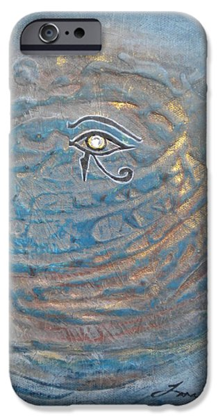 Horus iPhone Cases - Eye Of Horus iPhone Case by Tara Arnold