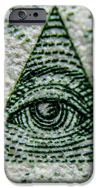 Great Seal Of The United States iPhone Cases - Eye of Providence  iPhone Case by Rob Schmehl