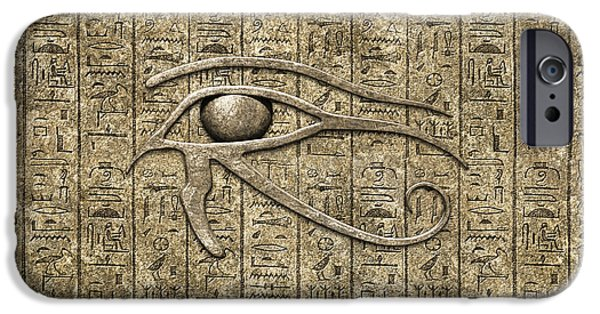 Horus iPhone Cases - Eye Of Ra iPhone Case by Chris MacDonald