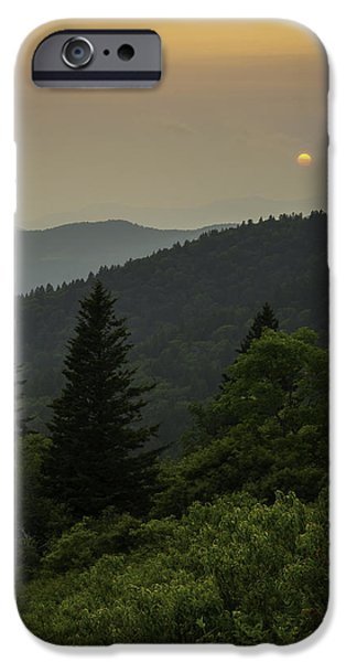 Scenic Print Photographs iPhone Cases - Eye of the Blue Ridge iPhone Case by Johan Hakansson