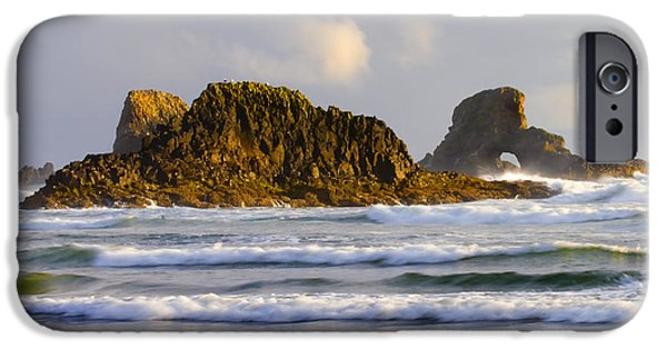 Oregon Coast iPhone Cases - Eye of the Storm iPhone Case by Mike  Dawson
