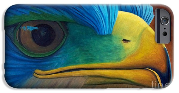 Eagle Paintings iPhone Cases - Eye on the Prize iPhone Case by Brian  Commerford