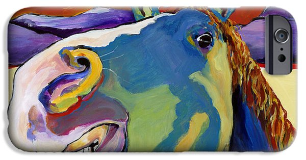 Animal Cards iPhone Cases - Eye To Eye iPhone Case by Pat Saunders-White