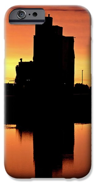 Eyebrow gain elevator reflected off water after sunset iPhone Case by Mark Duffy