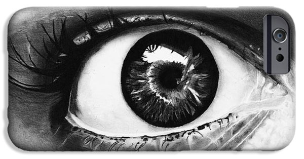Hyperrealistic iPhone Cases - Eyes are the Window of the Soul iPhone Case by Isabellas Artstudio