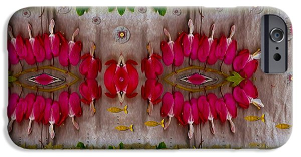 Goldfish Mixed Media iPhone Cases - Eyes Made Of The Nature iPhone Case by Pepita Selles