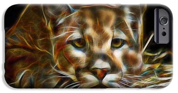 Abstract Digital Photographs iPhone Cases - Eyes Of The Panther iPhone Case by D Hackett