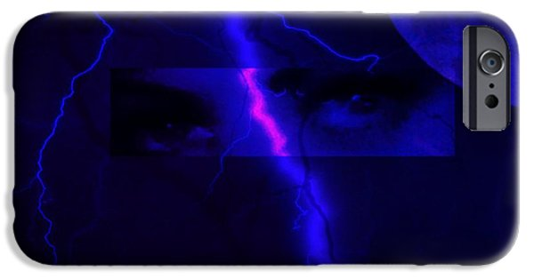 Seductive iPhone Cases - Eyes of the storm iPhone Case by Frances Lewis