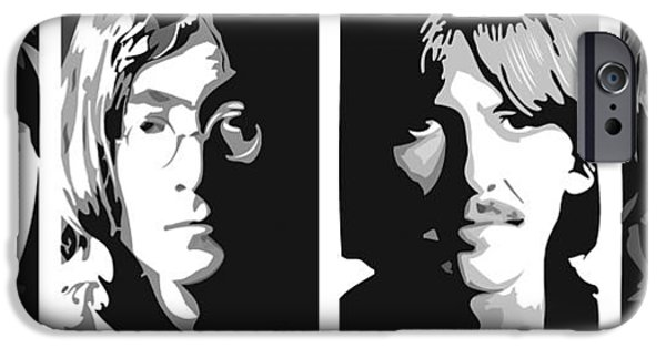 Beatles iPhone Cases - Fab Four iPhone Case by Randy Flook