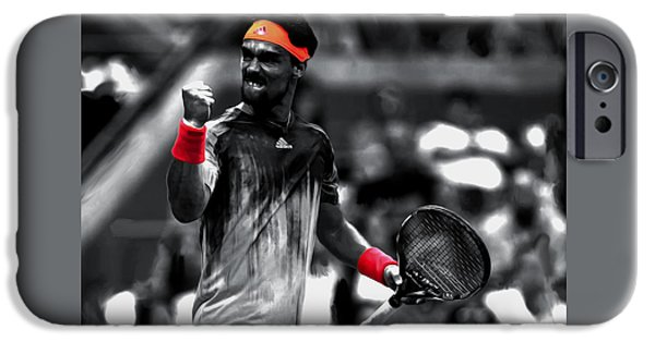 French Open iPhone Cases - Fabio Fognini iPhone Case by Brian Reaves