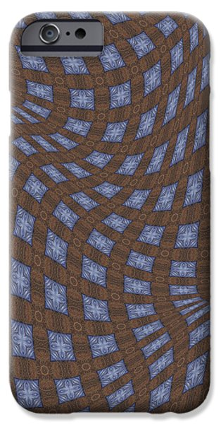 Fabric Design 17 iPhone Case by Karen Musick