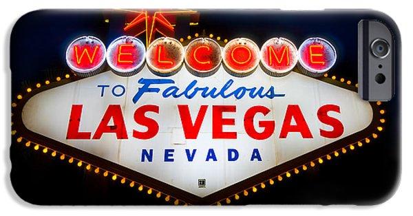 Sin iPhone Cases - Fabulous Las Vegas Sign iPhone Case by Steve Gadomski