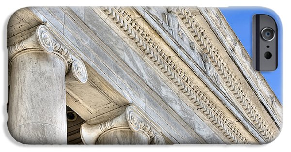 D.c. iPhone Cases - Facade of the Jefferson Memorial iPhone Case by Jerry Fornarotto