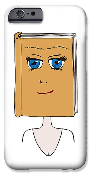 Manga iPhone Cases - Face Book iPhone Case by Frank Tschakert