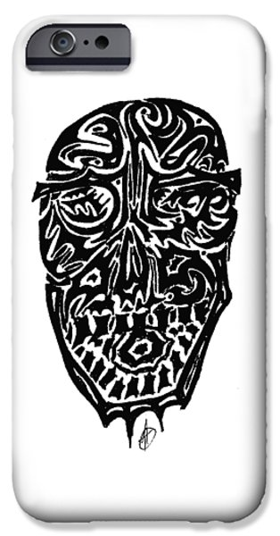 Abstract Digital Drawings iPhone Cases - Face it iPhone Case by AR Teeter