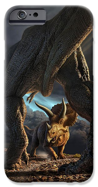 Face Off iPhone Case by Jerry LoFaro